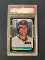 1987 Donruss #66 WILL CLARK San Francisco Giants Rookie Card PSA 8 NM-MT