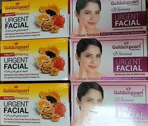 Golden Pearl 3 FRUITY + 3 Whitening Urgent Facial Dark Spot Dull Skin Care