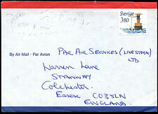 Sweden 1990's Commercial Airmail Cover To UK #C38369