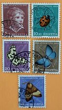 Switzerland 1952 Pro Juventute Stamps Used