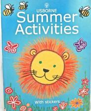 Summer Activities Book + 60 Stickers Usborne Fold Puppets Picnic Ideas Card Tags