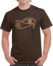 110 Eye of Ra mens T-shirt Egypt pyramids funny all seeing wadjet god goddess
