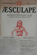 Aesculape n°5- 1932 : L'Art et la Médecine (Voir Sommaire Photo)