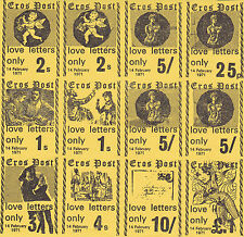 1971 STRIKE MAIL EROS POSTAL SERVICE ALL 8 VALUES IN FULL SHEET OF 12 IMP MNH a