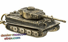 Bronze Solid Brass Keychain German Heavy Tank Tiger Т-VI WW2 Keyring IronWork