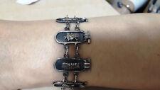 Bracelet, 7 cartouchs link Hallmark Egyptian Pharaoh Silver Cuff