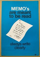 More details for 1960's gpo poster irp 223 - memo's….always write clearly