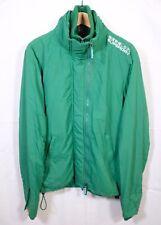 SUPERDRY Green Windbreaker Zip Jacket M Slim Fit Coat Double Blacklabel Winter
