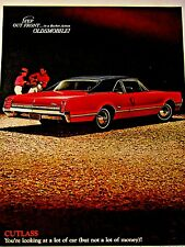 1966 Oldsmobile Cutlass Sports Coupe Original Print Ad 8.5 x 10.5""