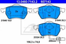 Bremsbelagsatz, Scheibenbremse für Bremsanlage Vorderachse ATE 13.0460-7143.2
