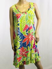 Paradiso Dress Women's Sleeveless Floral Size Small EUC