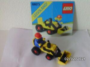 Lego 6603 Traktor mit Planierschild (1985) mit Original-Bauanleitung!