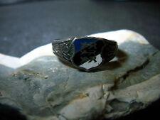 patriotischer Ring Email blau-schwarz-weiß-Silber-Geprüft-1910-1945