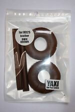 Dark Brown Protein Leather pads for sennheiser HD25-1 by YAXI HD25 mk II