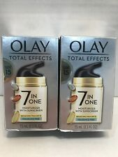 2 pack Olay Total Effects Anti Aging Moisturizer  Fragrance Free 0.5oz EXP 07/21
