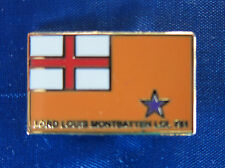 Orange Lodge Badge with Orange Standard Flag Loyalist