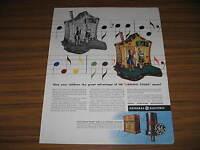 1944 Vintage Ad GE General Electric Radios FM Natural Color Music