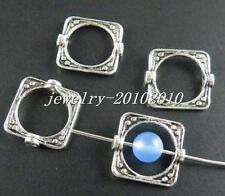 50pcs Tibetan Silver Square Connectors 14mm 5149-1