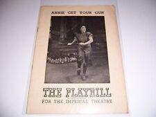 AUG 1948 PLAYBILL - ANNIE GET YOUR GUN - ETHEL MERMAN MILTON WATSON JANE EARLE