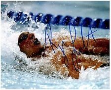 RYAN LOCHTE Signed Autographed TEAM U.S.A. Olympic Swimming 8x10 Pic. G