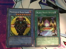 Yugioh Magician of Black Chaos+ Ritual PP01 Secret Rare set **HOT** + Bonus