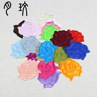 5/100Pcs Small Rose Patches Embroidered Iron on/Sew on Patch Applique DIY Badge
