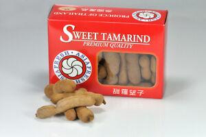 Frische süße Tamarindenfrüchte aus Thailand 450g Tamarinde Tamarind Frucht Thai