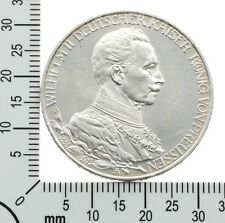 Preussen: 3 Mark 1913 A - Regierungsjubiläum - Original Silbermünze