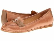 New NAYA Debbie Tan Taupe Leather Classic Penny Loafers Shoes Flats Womens 5