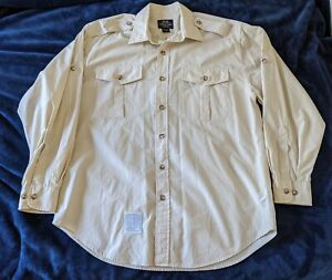 Willis & Geiger Bush Poplin 100% cotton long sleeved balloon safari shirt