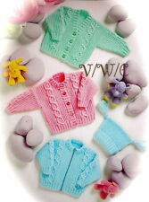 Knitting Pattern Baby Cardigan 3 Styles (4 sizes) & A Hat
