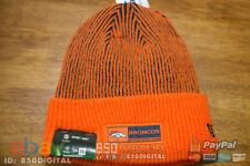 NEW ERA Denver Broncos Tech Knit Lined Cuffed Beanie Hat-OSFM ORANGE Crush NFL