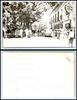 MEXICO RPPC Photo Postcard-Cuernavaca, Street Scene, Cars, People, Buildings J34