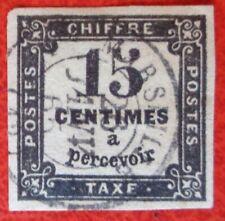 France oblitéré, taxe n°3B, 15c noir, 1863