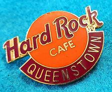 QUEENSTOWN NEW ZEALAND CLASSIC HRC DEEP ORANGE LOGO Hard Rock Cafe PIN