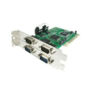 Startech 4 Port PCI RS232 16550 UART PCI4S550N Serial Card - New in Box