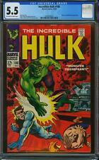 The Incredible Hulk #108 (Oct 68) Cgc 5.5 Ft. Nick Fury & Mandarin
