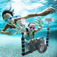 Stable Aluminium Tray Stabilizer Rig support Underwater Camera Dual Handle Mount