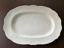 seltene Meissen Porzellan 36x25cm Servier-Platte weiß Neumarseille Relief邁森1973