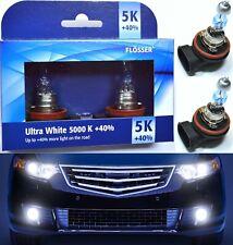 Flosser 40% White 5000K H11 55W Two Bulbs Head Light Low Beam Replace Plug Play
