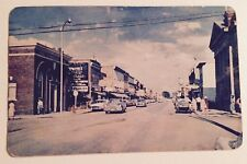 Old Main Street, Looking East, Fort Frances, Ontario Canada Postcard ~ Old Cars
