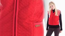 Gilet de laine en rouge, double, matelassé, veste en fourrure,laine mérinos,