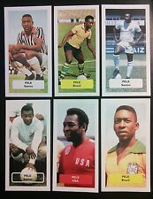BRAZIL SANTOS new york cosmos USA - PELE - group of 6 Score UK trade cards