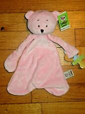 New listing Nwt & Htf baby Ganz Pink Bear Pacifier Cozy Security Blanket/Lovey
