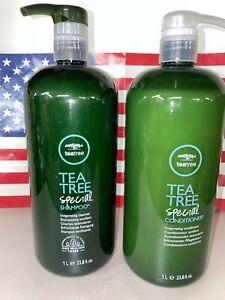 Paul Mitchell Tea Tree Shampoo  & Conditioner 33.8 oz 1000ML Liter Duo Set
