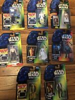 (8) Star Wars Power of the Force Action Figures Kenner 1995 & 1997 POTF SEALED