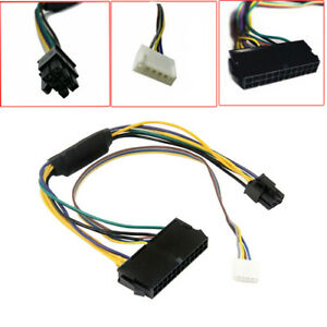 24 Pin To 6P PSU Motherboard Converter Adapter Power Cable For HP Z220 Z230 Z240