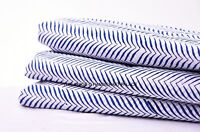 2.5 Yards Cotton Voile Hand Block Ikat Print Fabric Natural Dyes Sanganer Indian