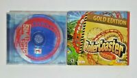 SIM Theme Park Gold Edition PC CD-ROM Game EA Rollercoaster Tycoon Bonus Rides