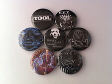7 Tool Pin Button badges 25mm Sober Stinkfist The Pot Lateralus Undertow